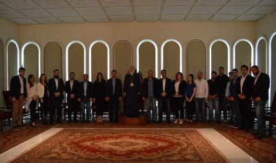 """زيارة مصلحة الطلاب في """"القوات"""" لكاثوليكوس الأرمن الأرثوذكس لبيت كيليكا"""