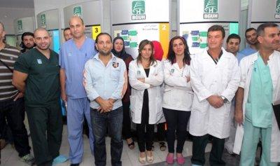 مستخدمو وأجراء مستشفى رفيق الحريري: للإعتصام والتوقف التام عن العمل الأربعاء