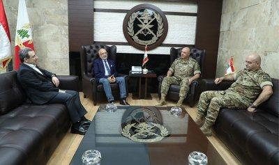 قائد الجيش بحث في الاوضاع العامة مع النائبين ابو فاعور وشهيب