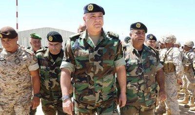 قائد الجيش يغادر لبنان