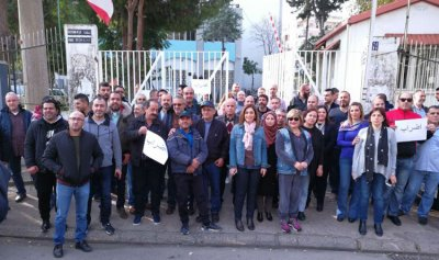 إضراب لموظفي اوجيرو في صيدا احتجاجا على التأخير في توقيع مشروع السلسلة