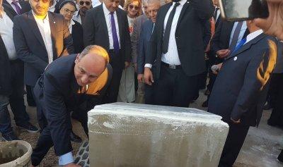 بالصور: بو عاصي يضع حجر الأساس لمشروع نادي العمر الجديد التابع لمجلس إنماء شكا