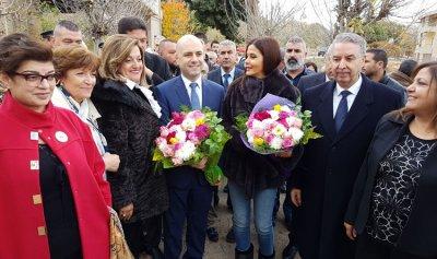 بالصور:حاصباني يتفقد مستوصف حدث الجبة برفقة النائبين جعجع وكيروز