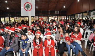"""بالصور: حفل الميلاد لمنسقية عكار في """"القوات"""""""