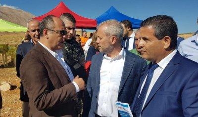 بو عاصي يتفقد مشروع انشاء شبكة ريّ وربط البرك في منطقة دير الأحمر