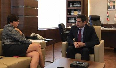 قيومجيان يلتقي سفيري مصر وكندا ولازاريني