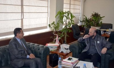 الرياشي بحث مع سفير اليمن في العلاقات الثنائية بين البلدين