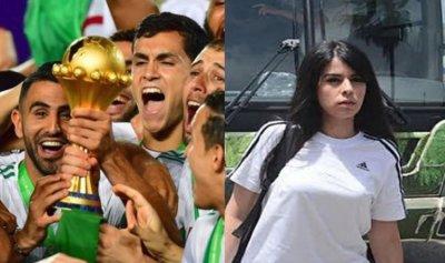 من هي الحسناء التي رافقت منتخب الجزائر؟