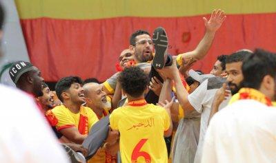 """""""فخور بتدريب الفريق""""… """"القادسية"""" بطلاً لـ""""كأس الصالات"""" بقيادة طارق رزق"""