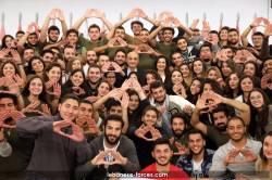 """طلاب """"اليسوعية"""" يهدون إنتصارهم لجعجع"""
