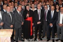 -1-وفد القوات اللبنانية في زيارة البطريرك الراعي في الديمان