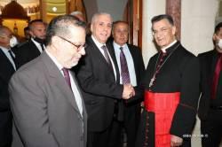 -2-وفد القوات اللبنانية في زيارة البطريرك الراعي في الديمان